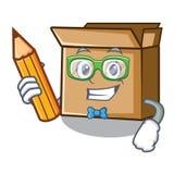 Картон студента в форме характера a иллюстрация вектора
