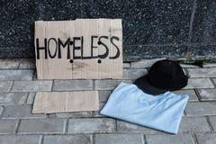 Картон для бездомные как Стоковая Фотография