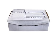 картон 5 коробок Стоковая Фотография