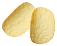Картофельные стружки изолированные на белой предпосылке Стоковое Изображение