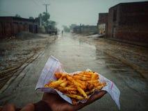 Картофель фри на деревне стоковые фотографии rf