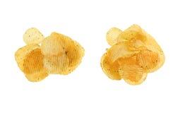 2 картофельной стружки кучи Стоковая Фотография RF