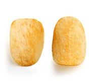 2 картофельной стружки Стоковые Фото