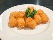 картофельные оладьи на плите Стоковое фото RF