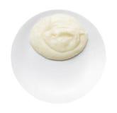 Картофельные пюре на изолированной плите изолированной на белизне Стоковые Изображения RF