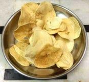 Картофельные стружки фрая Стоковые Изображения RF