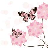 Карточка бабочек иллюстрация вектора