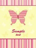 карточка бабочки младенцев жизнерадостная Стоковое Фото