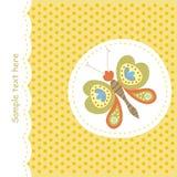 карточка бабочки цветастая бесплатная иллюстрация
