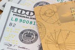 карточка банка, доллары Стоковая Фотография RF