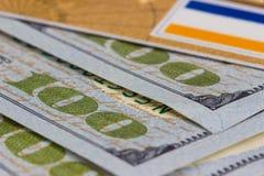 карточка банка, доллары Стоковое Фото
