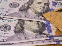карточка банка, доллары Стоковые Изображения RF