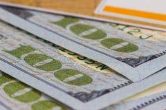 карточка банка, доллары Стоковая Фотография