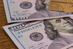 карточка банка, доллары Стоковые Фото