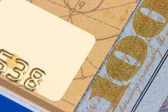 карточка банка, доллары Стоковое Изображение