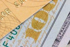 карточка банка, доллары Стоковое Изображение RF