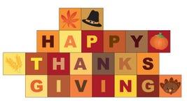 Карточка благодарения с значками autum стоковое фото rf
