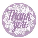 карточка благодарит вас Иллюстрация вектора на круглой рамке орнамента мандалы Стоковые Фотографии RF