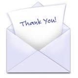 карточка благодарит вас Стоковое Фото