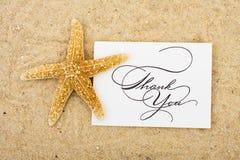 карточка благодарит вас Стоковая Фотография RF