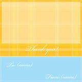карточка благодарит вас стоковые изображения
