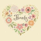 Карточка большое спасибо Стоковое Изображение