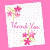 карточка благодарит вас Стоковые Изображения RF