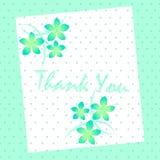 карточка благодарит вас Стоковая Фотография