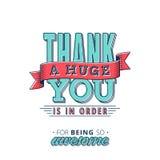 карточка благодарит вас бесплатная иллюстрация