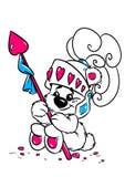 Карточка Валентайн влюбленности рыцаря медведя младенца Стоковая Фотография