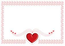 Карточка Валентайн Стоковые Изображения RF