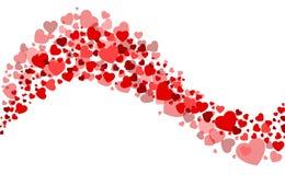 Карточка валентинки с сердцем Стоковая Фотография RF