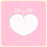 Карточка валентинки Стоковое фото RF