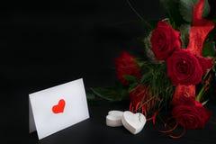 Карточка 1 валентинки Стоковые Изображения