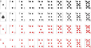 Карточка вектора играя Стоковые Фото