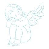 Карточка вектора меньший ангел Стоковые Изображения