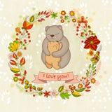 Карточка вектора милая на счастливый день матерей иллюстрация штока