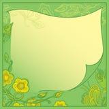 Карточка вектора - приглашение к зеленому цвету Стоковое Изображение RF