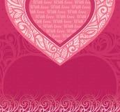 Карточка вектора розовая для поздравлений Стоковая Фотография RF