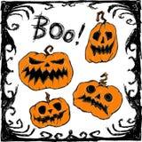 Карточка вектора хеллоуина бесплатная иллюстрация