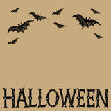 Карточка вектора хеллоуина иллюстрация штока