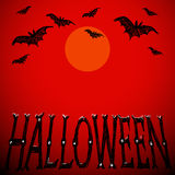 Карточка вектора хеллоуина иллюстрация вектора