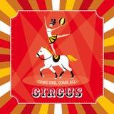 Карточка вектора цирка бесплатная иллюстрация