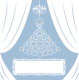 Карточка венчания Стоковые Изображения RF