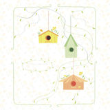 Карточка весны с коробкой вложенности Стоковые Изображения RF