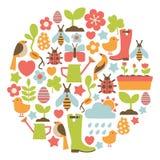 Карточка весны иллюстрация штока