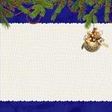 карточка ветвей предпосылки голубая Стоковое Фото