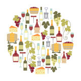 Карточка вина Стоковая Фотография