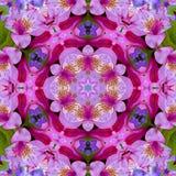 Карточка влюбленности калейдоскопа цветка Стоковая Фотография