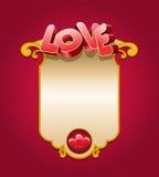 Карточка влюбленности Иллюстрация штока